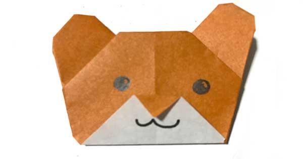 熊の折り紙
