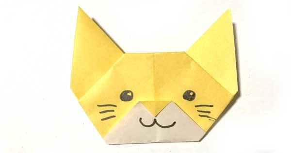 猫の折り紙指人形