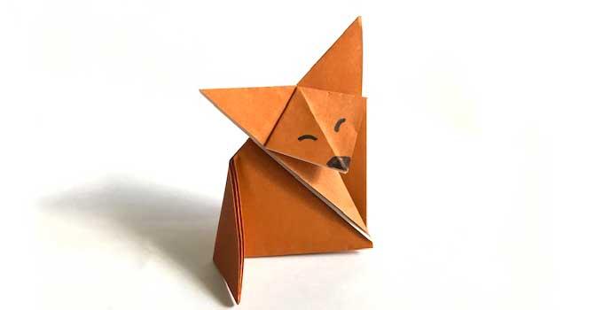 折り紙キツネ