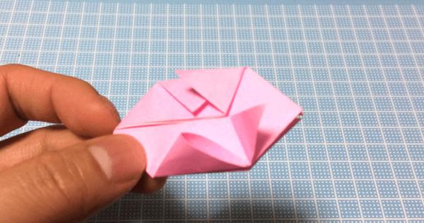 折り紙風船の折り方13