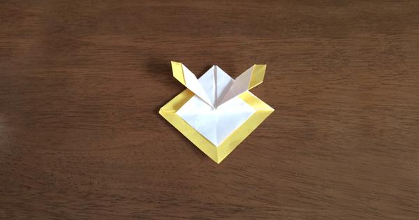 折り紙兜の折り方08