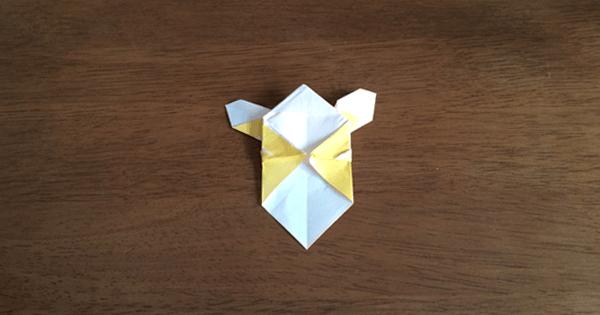 折り紙兜の折り方10