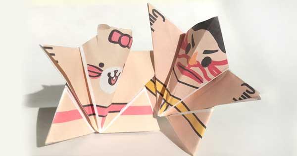 折り紙お相撲さん取り組み