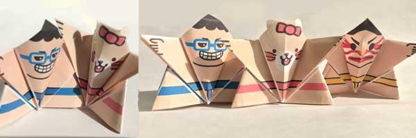 折り紙お相撲さん