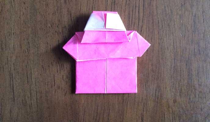 シャツの折り方