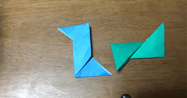 折り紙手裏剣の折り方10