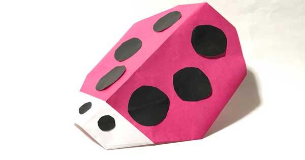 テントウムシを折り紙