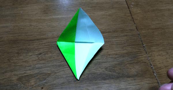折り紙鶴の折りかた10