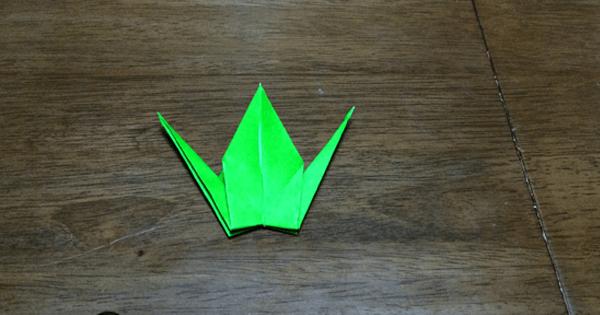 折り紙鶴の折りかた21