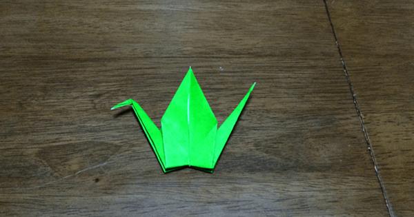 折り紙鶴の折りかた22