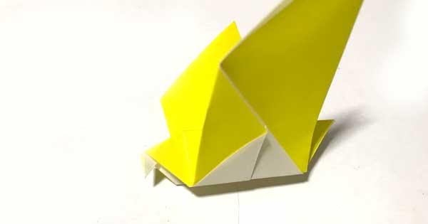 折り紙で作る鳥の簡単な折方