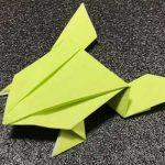 ピョンピョンカエルの折り紙の折り方