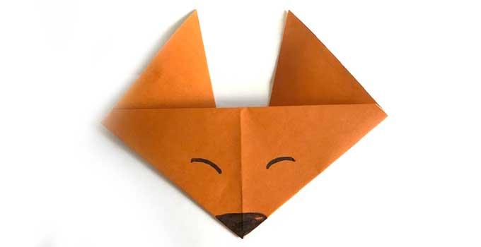折り紙のキツネの折り方!子供でも簡単に作れる