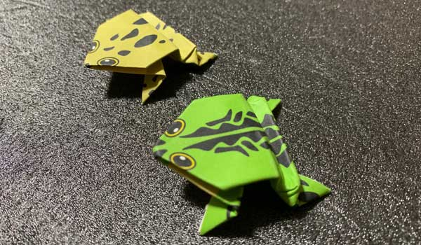 カエルの折り紙の折り方