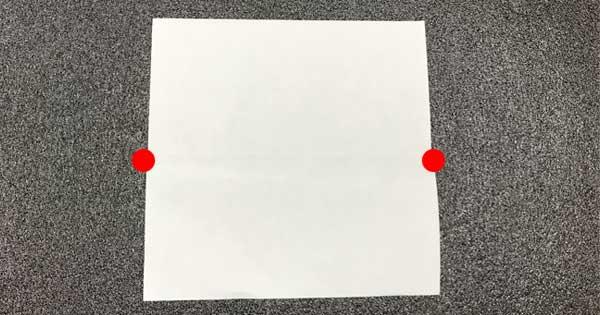 ピョンピョンカエルの折り方1