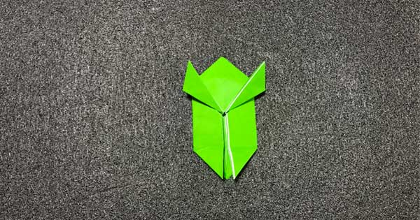 ピョンピョンカエルの折り方10