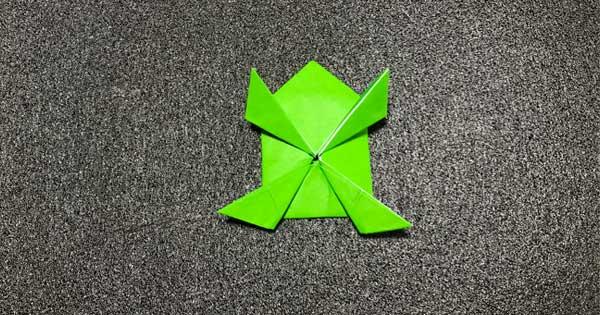 ピョンピョンカエルの折り方11