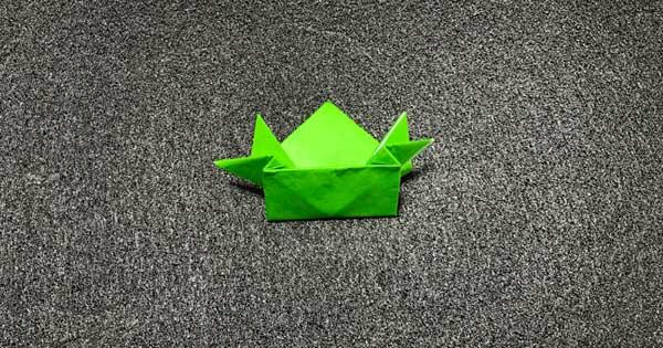 ピョンピョンカエルの折り方12