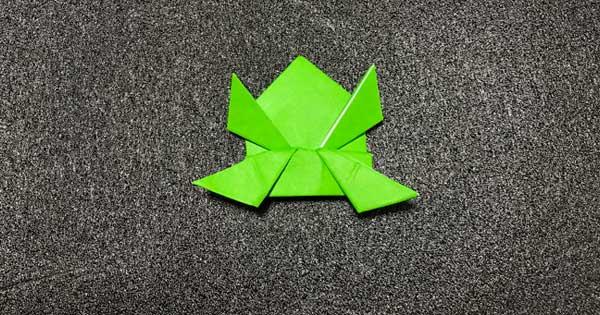 ピョンピョンカエルの折り方13
