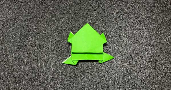 ピョンピョンカエルの折り方14