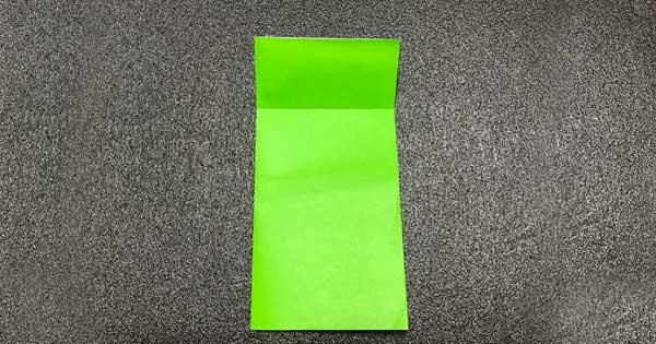 ピョンピョンカエルの折り方3