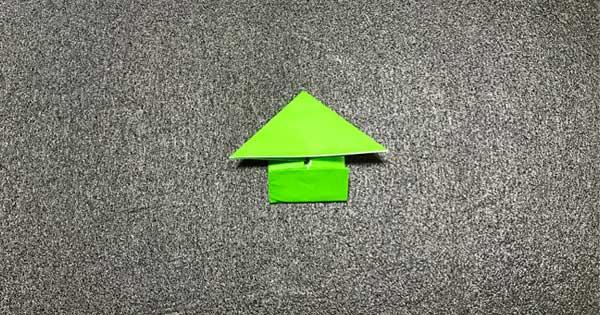 ピョンピョンカエルの折り方8