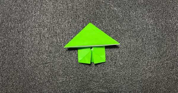 ピョンピョンカエルの折り方9