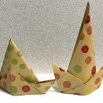 折り紙で作る「立体帽子(ハット)の折り方」