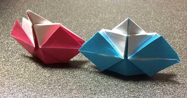 【折り紙】お雛様・男雛(おひなさま・おびな)の簡単な作り方