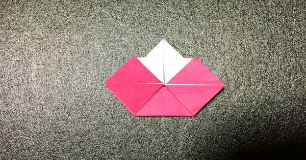 おひなさまの折り紙の折り方10