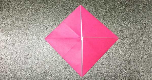 おひなさまの折り紙の折り方2