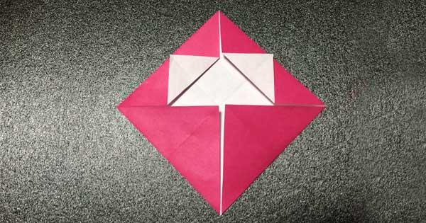 おひなさまの折り紙の折り方3