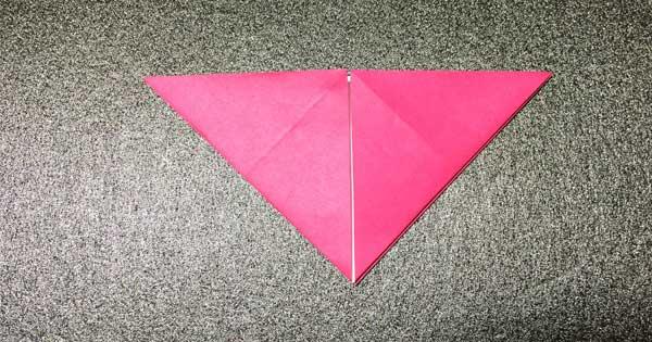 おひなさまの折り紙の折り方4