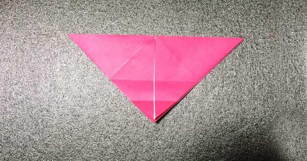 おひなさまの折り紙の折り方5