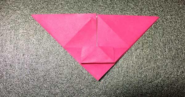 おひなさまの折り紙の折り方6