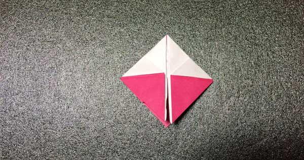 おひなさまの折り紙の折り方8