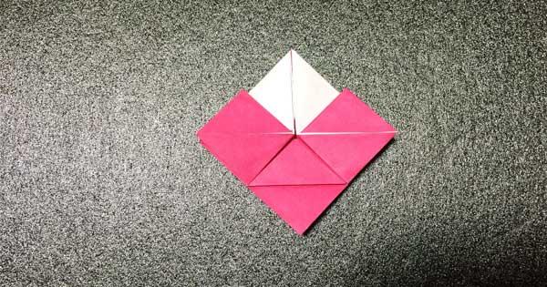おひなさまの折り紙の折り方9