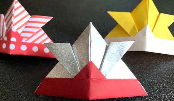 折り紙カブトの完成品