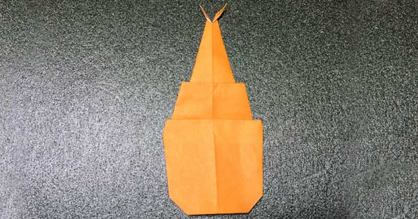 カブトムシの折り紙の完成