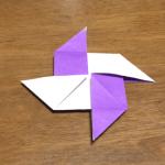 折り紙の簡単な風車(かざぐるま)の折り方|How to  fold Windmill