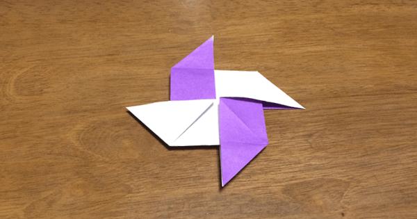 風車の折り紙の折り方