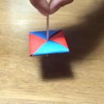 折り紙で作る遊べる駒(コマ)の折り方|How to fold Piece