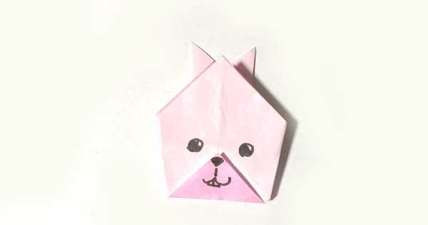 兎(ウサギ)の折り方