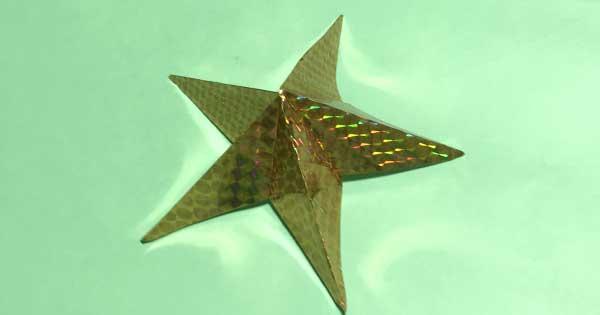 星の折り紙の折り方