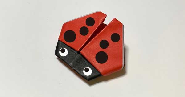 てんとう虫の折り紙