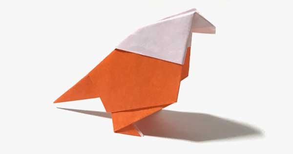 小鳥の簡単に作れる折り紙