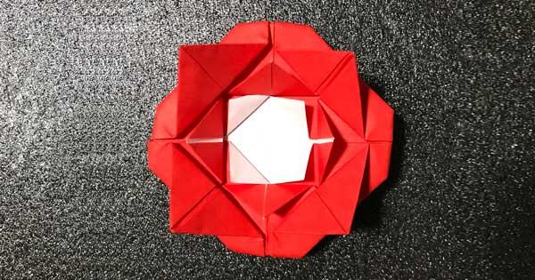 バラの花の折り紙