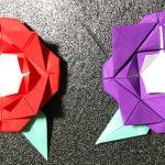【折り紙】バラ・薔薇の簡単な折り方・作り方|How to  fold Rose