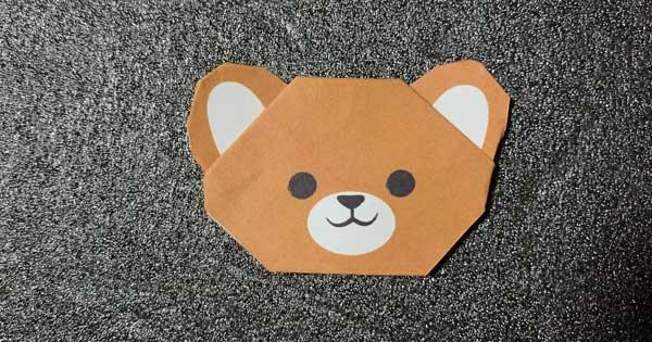 熊の折り紙指人形
