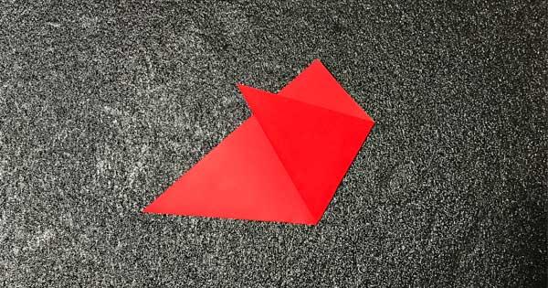 チューリップの折り方.3